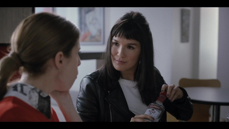 Zoë Chao as Sara Harris Drinking Smirnoff Vodka in Love Life S01E06 TV Show