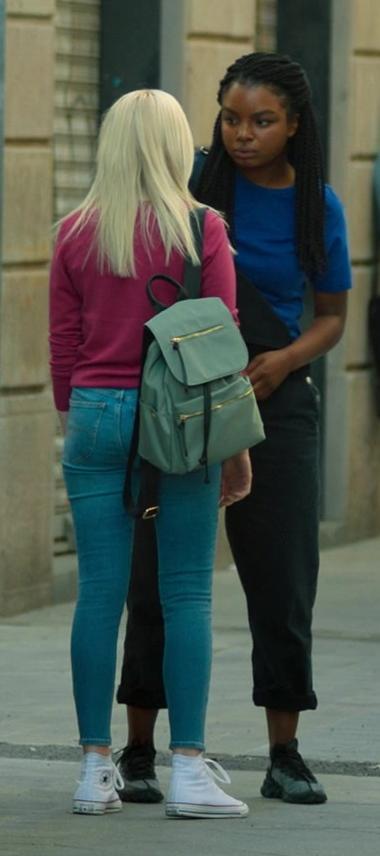 Áine Rose Daly Wears Converse White High Top Sneakers in Hanna Season 2 TV Series