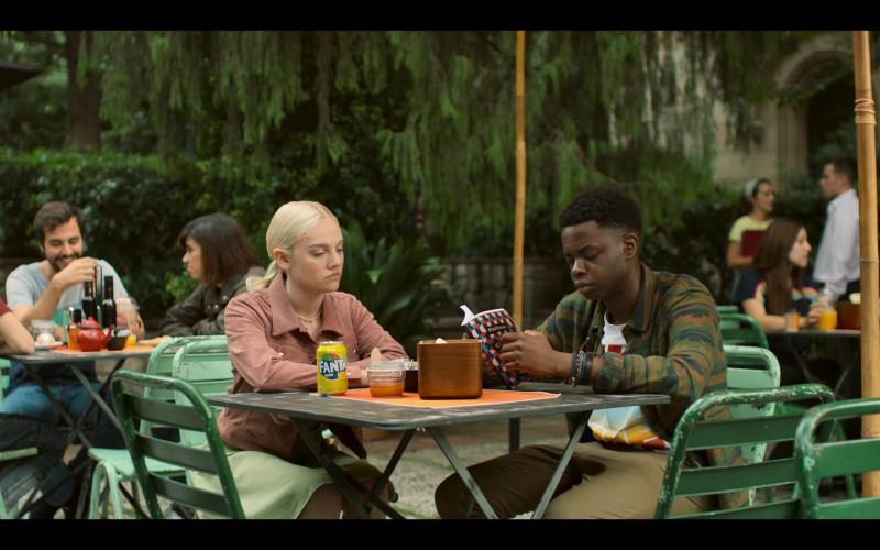 Áine Rose Daly as Sandy Phillips Drinks Fanta Orange Soda in Hanna Season 2 Episode 8 TV Show by Amazon