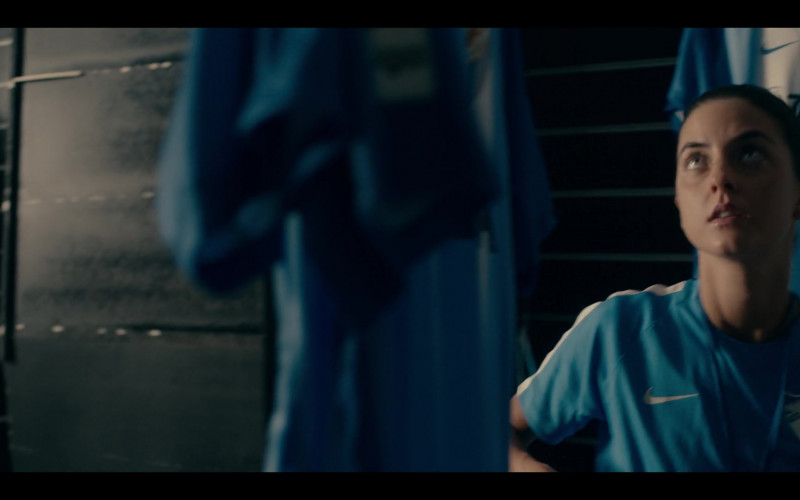 Actress Wears Nike Blue Jersey Outfit in Warrior Nun S01E0 TV Show (1)