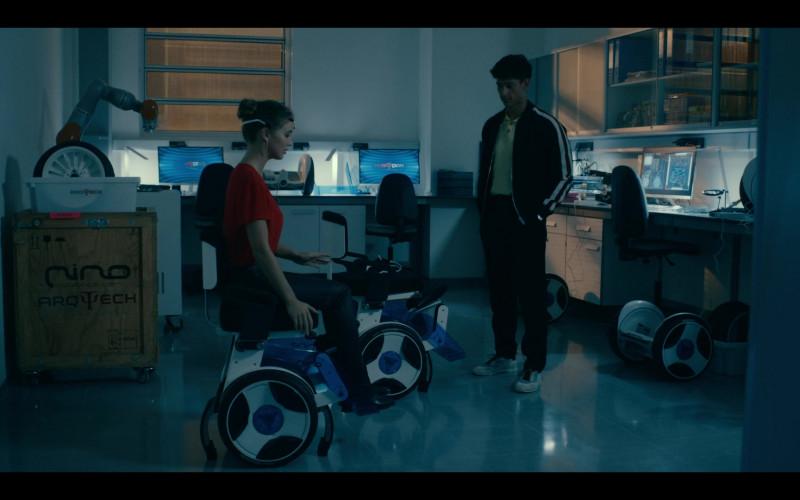 Alba Baptista as Ava Silva Using Nino Robotics Wheelchair in Warrior Nun Season 1 TV Show