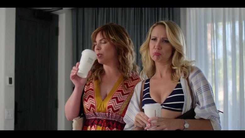 Anna Camp Enjoying Starbucks Coffee in Desperados 2020 Netflix Film (2)