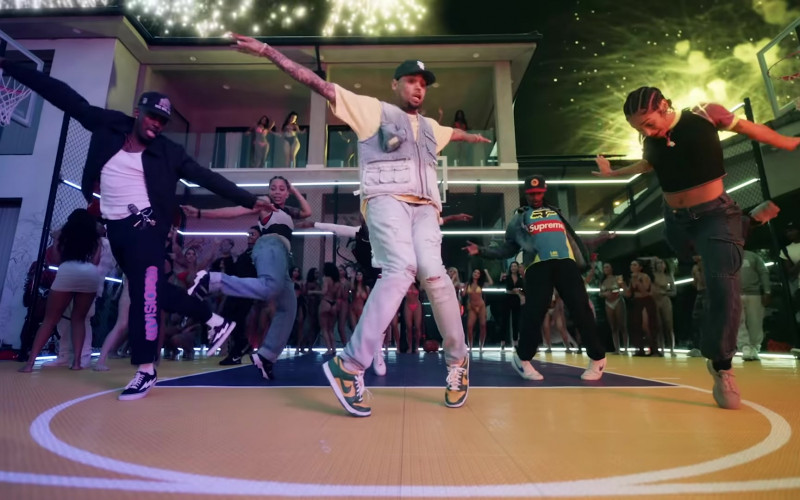 Chris Brown Wears Nike Sneakers Outfit in 'Go Crazy' 2020 Music Video (1)