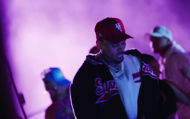 Chris Brown Wears Supreme Faux Fur Jacket Outfit in 'Go Crazy' Official Music Video (1)