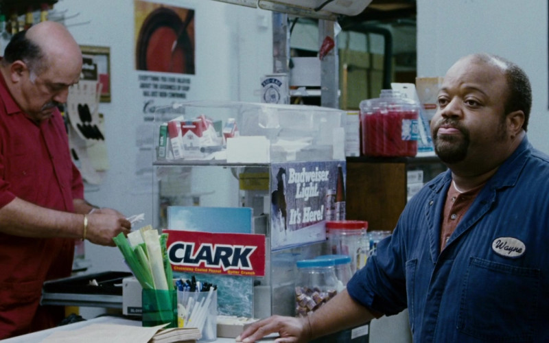 Clark Bar Candy Bars and Budweiser Light Stickers in The Pursuit of Happyness (1)