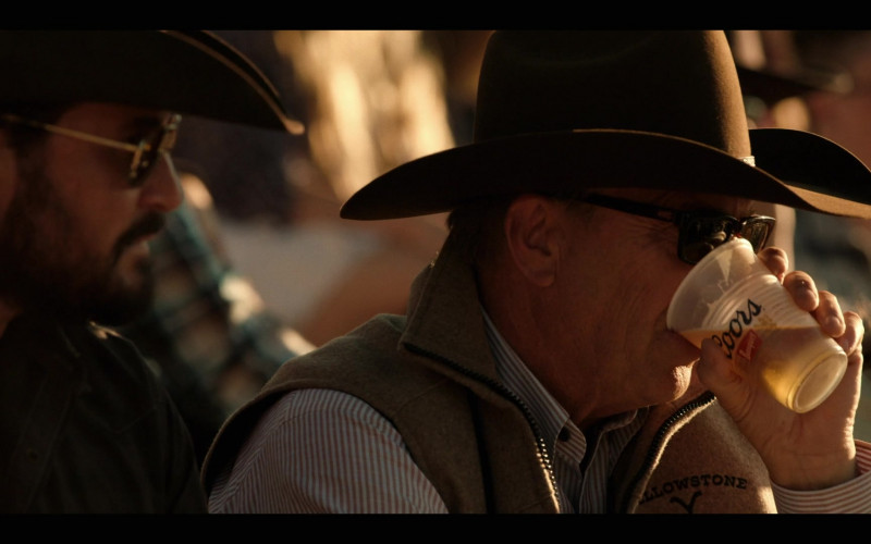 Coors Banquet Beer Enjoyed by Kevin Costner as John Dutton in Yellowstone S03E03 TV Series (1)