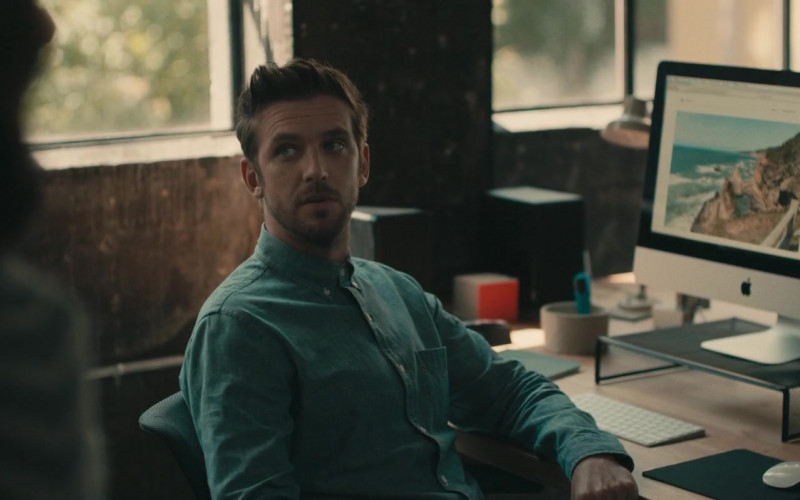 Dan Stevens and Apple iMac Computer