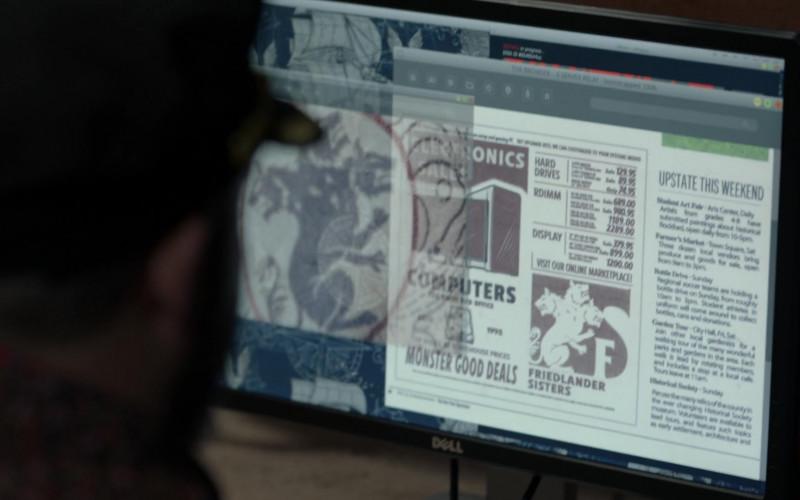 Dell Monitor in Blindspot S05E08 Ghost Train (2020)