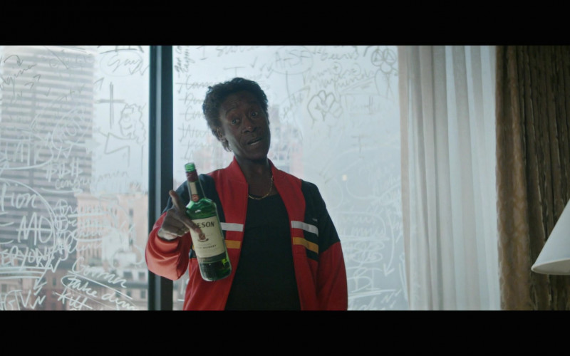 Don Cheadle as Maurice Enjoying Jameson Whiskey in Black Monday Season 2 Episode 10 TV Show
