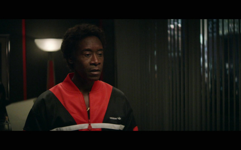 Don Cheadle as Maurice Monroe Wears Adidas Red Tracksuit Outfit in Black Monday S02E09 TV Show (3)