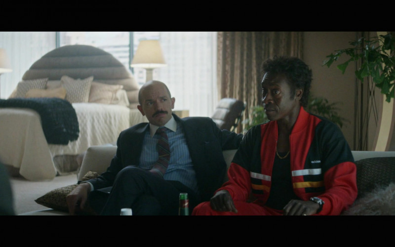 Don Cheadle as Maurice Wears Adidas Bomber Jacket Outfit in Black Monday S02E10 TV Show