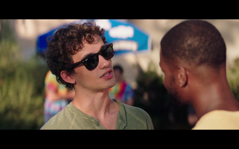 Eli Brown Wears Ray-Ban Wayfarer Men's Classic Sunglasses in The Fk-It List 2020 Movie (3)
