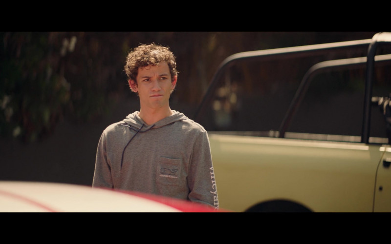 Eli Brown Wears Vineyard Vines Men's Gray Hoodie Outfit in The Fk-It List Film (1)