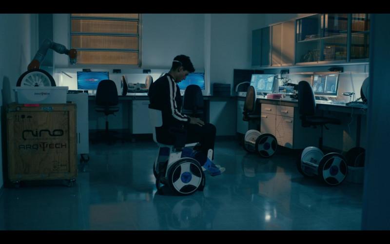 Emilio Sakraya as JC Using Nino Robotics Wheelchair in Warrior Nun S01E02 TV Show