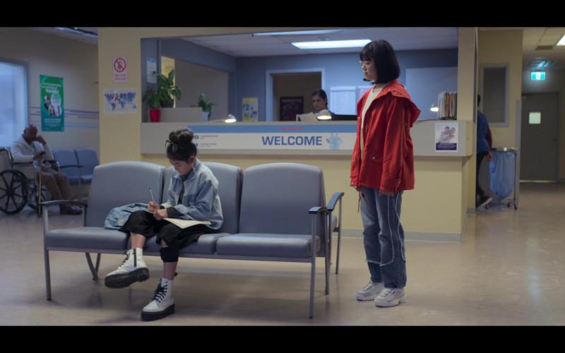 Fila Platform Sneakers Worn by Aya Furukawa as Janine Kishi in The Baby-Sitters Club S01E06