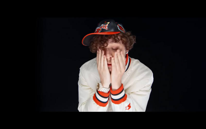 Jack Harlow Wears Starter Jacket Outfit in 'Whats Poppin' (2020) Music Video