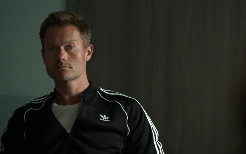 James Badge Dale as Det. Ray Abruzzo Wears Adidas Black Bomber Jacket Outfit in Hightown Season 1 TV Show (5)