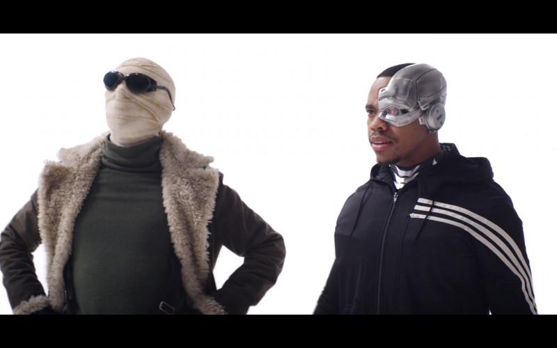 Joivan Wade as Cyborg Wears Adidas Jacket Outfit in Doom Patrol Season 2 TV Show (4)