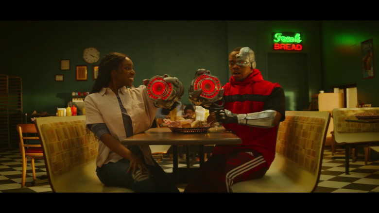 Joivan Wade as Cyborg Wears Adidas Red Sports Pants Outfit in Doom Patrol Season 2 Episode 5 TV Show (2)