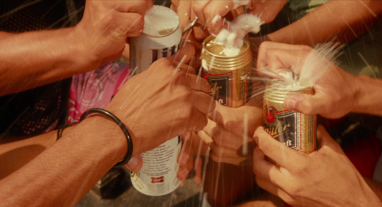 Miller Lite Cans and Miller Genuine Draft Beer Bottles in Do the Right Thing 1989 Movie (1)