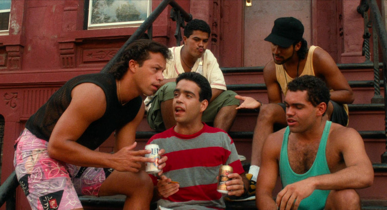 Miller Lite Cans and Miller Genuine Draft Beer Bottles in Do the Right Thing 1989 Movie (4)