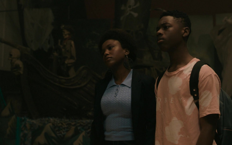 Obey T-Shirt Outfit Worn by Actor in The Chi S03E05