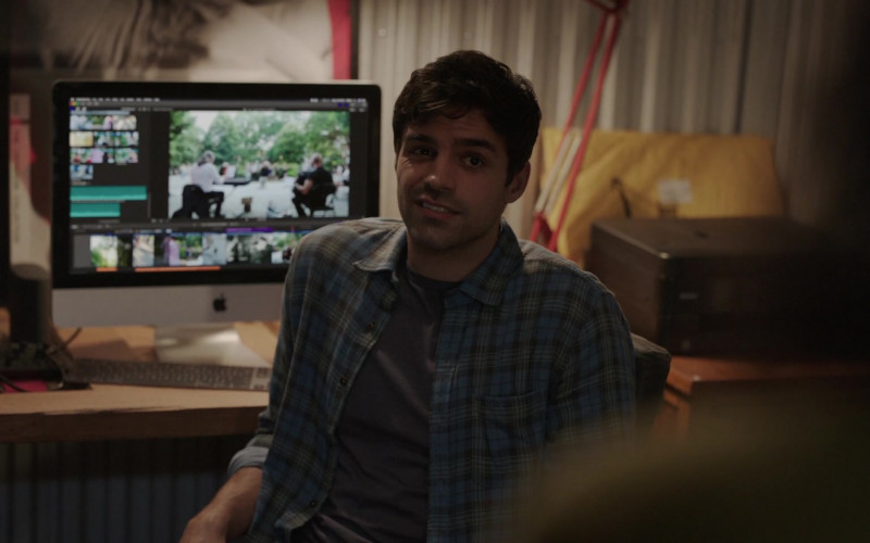 Sean Teale and Apple iMac Computer
