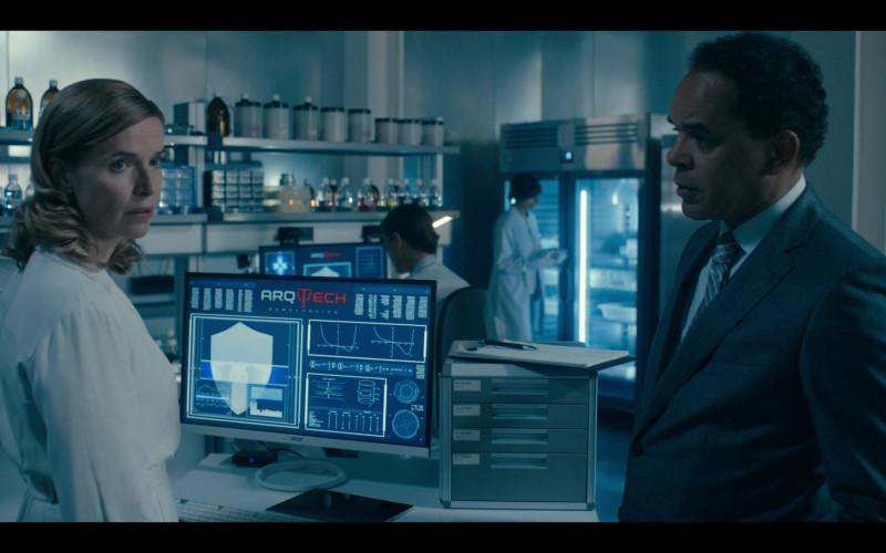 Thekla Reuten as Jillian Salvius Using Acer Monitor in Warrior Nun Season 1 TV Show