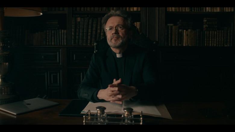 Tristan Ulloa as Father Vincent Using Apple MacBook Laptop in Warrior Nun Season 1 TV Show (2)