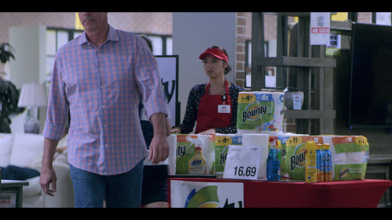 409 Cleaner, Pledge Spray and Bounty Paper Towels