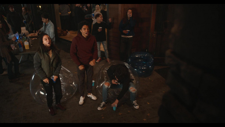 Actor Odiseas Georgiadis as Noah Simos Wears Adidas White Sneakers in Trinkets Season 2 Netflix TV Show