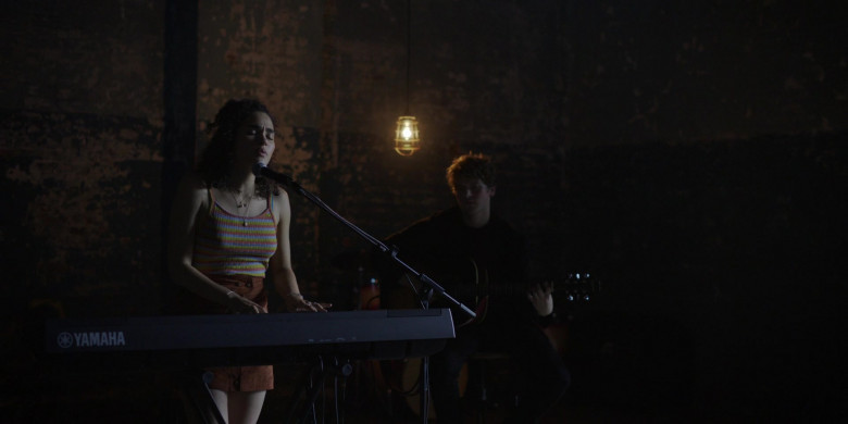 Actress Playing On The Yamaha Musical Keyboard in Little Voice S01E07 TV Series (1)