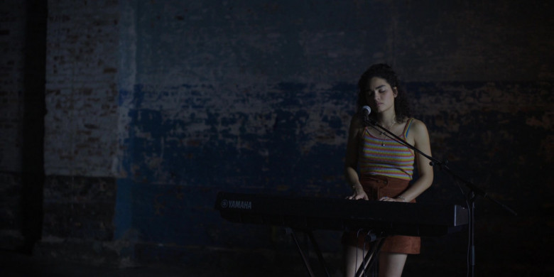 Actress Playing On The Yamaha Musical Keyboard in Little Voice S01E07 TV Series (2)