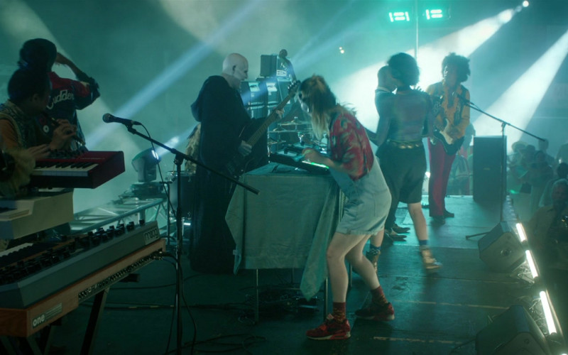 Actress Samara Weaving as Theodora 'Thea' Preston Wears Nike Red Shoes in Bill & Ted Face the Music (3)