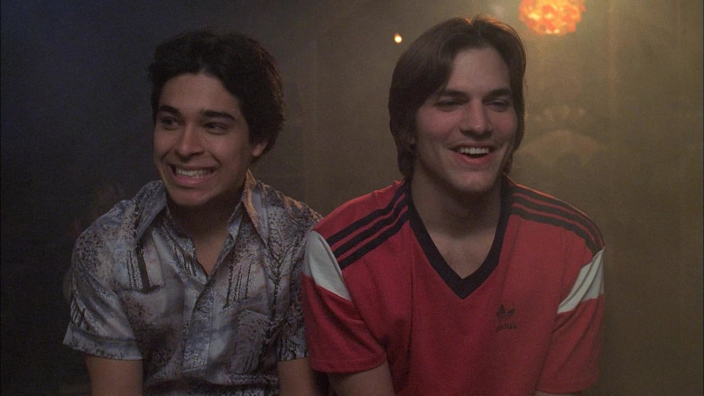 Adidas Red T-Shirt Worn by Ashton Kutcher as Michael Kelso in That '70s Show S06E19 (2)