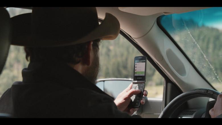 Alcatel Phone of Cole Hauser as Rip Wheeler in Yellowstone S03E10