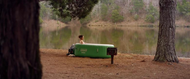 Aleksei Archer as Miranda Using Coleman SaluSpa Inflatable Hot Tub Spa in Hour of Lead Film (1)