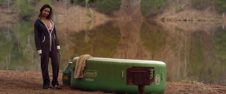 Aleksei Archer as Miranda Using Coleman SaluSpa Inflatable Hot Tub Spa in Hour of Lead Film (2)