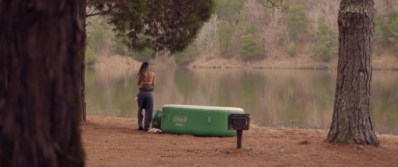 Aleksei Archer as Miranda Using Coleman SaluSpa Inflatable Hot Tub Spa in Hour of Lead Film (3)