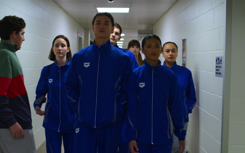 Arena Blue Tracksuits Outfits Worn by Actors in Swimming for Gold (1)
