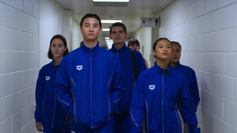 Arena Blue Tracksuits Outfits Worn by Actors in Swimming for Gold (2)