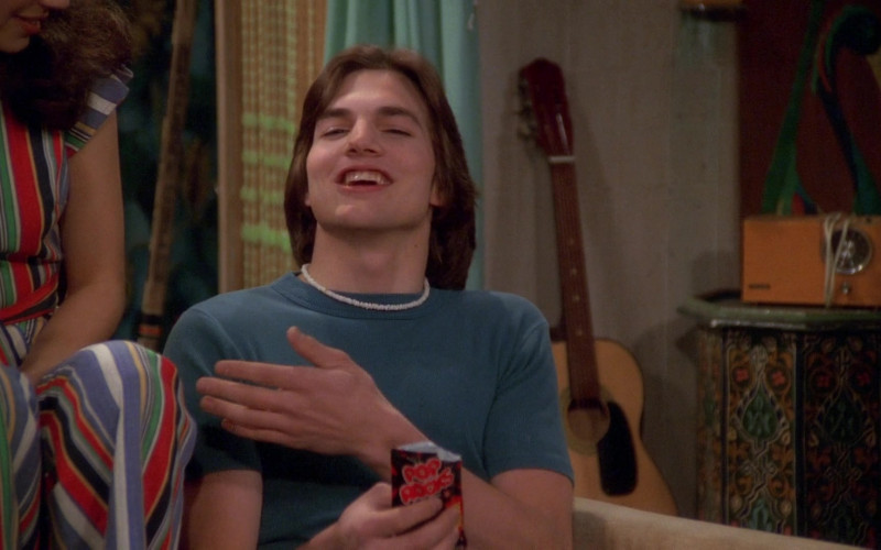 Ashton Kutcher as Michael Kelso Enjoying Pop Rocks Candy in That '70s Show S01E25