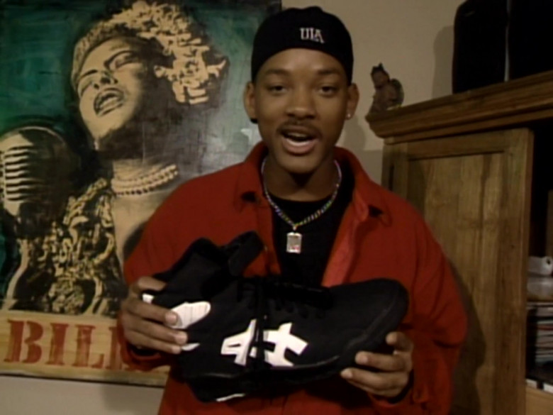 Asics Black High Top Sneakers of Will Smith in The Fresh Prince of Bel-Air S06E19 (2)