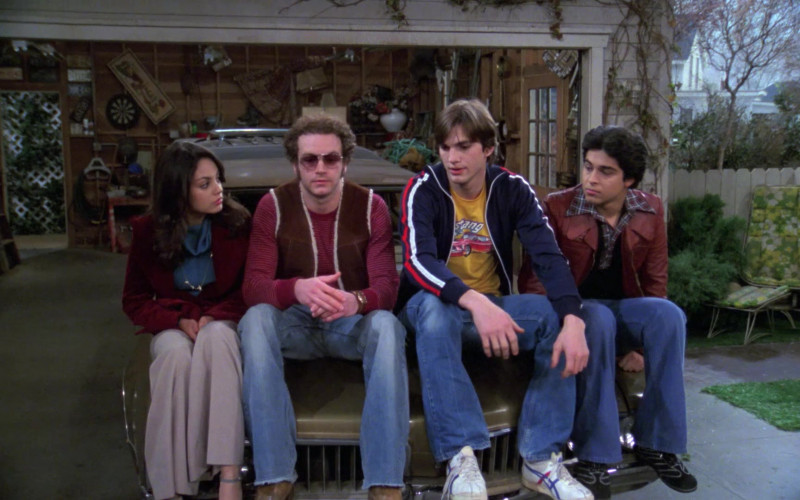 Asics Onitsuka Tiger Sneakers, Jeans and Jacket Outfit Fashion of Ashton Kutcher in That '70s Show