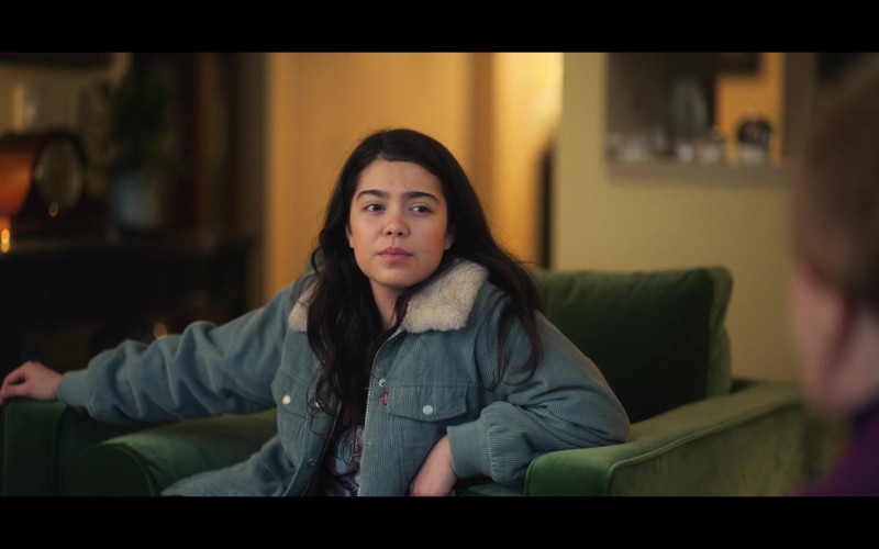 Auliʻi Cravalho as Amber Wears Levi's Jacket in All Together Now (2020) Movie