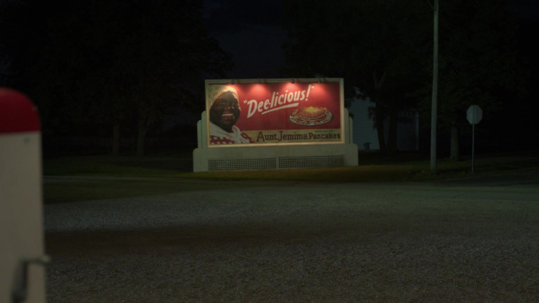 Aunt Jemima Pancakes Billboard in Lovecraft Country S01E01