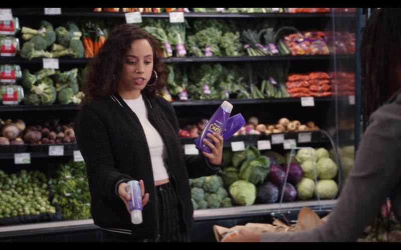 Aussie Miracle Curls Shampoo Held by Kiana Madeira as Moe Truax in Trinkets S02E07