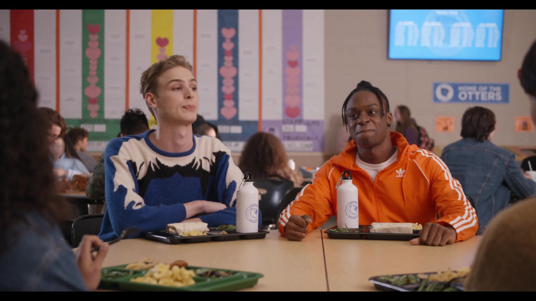 Austin Crute as Marquise Wears Adidas Orange Jacket Outfit in Trinkets Season 2 Episode 9 TV Show by Netflix (1)