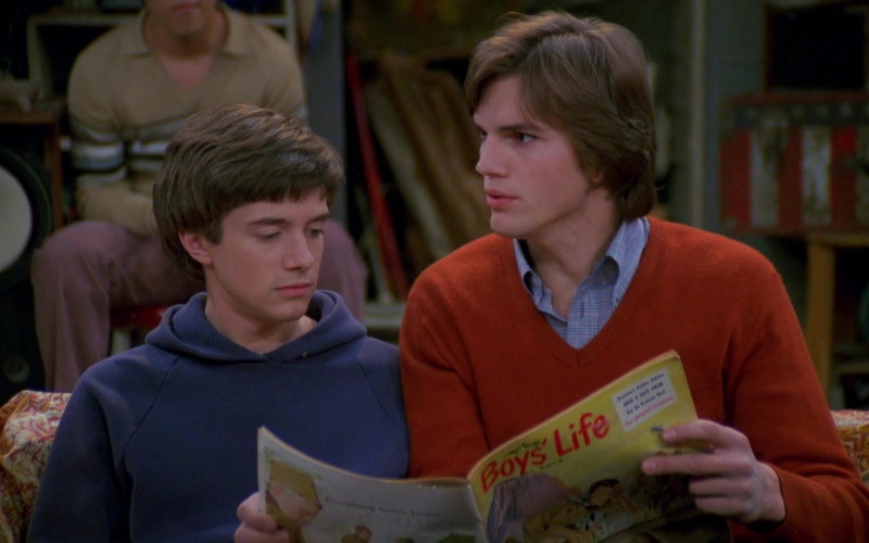 Boys' Life Magazine Held by Ashton Kutcher as Michael Kelso in That '70s Show (1)