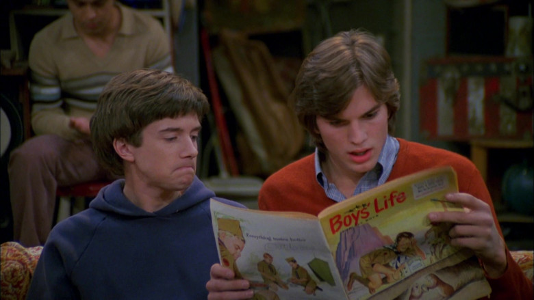 Boys' Life Magazine Held by Ashton Kutcher as Michael Kelso in That '70s Show (2)